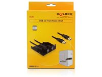 "Front panel DELOCK, 3.5"", 2x USB 3.0, crni"