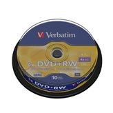 Medij DVD+RW VERBATIM 10kom S/4x/4.7GB