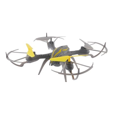 Dron OVERMAX X-BEE 2.4, kamera, 6-osni žiroskop, vrijeme leta do 8min, 2x baterija, upravljanje daljinskim upravljačem, sivi