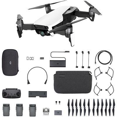Dron DJI Mavic Air Fly More Combo, Arctic White, 4K UHD kamera, 3-axis gimbal, vrijeme leta do 21min, upravljanje daljinskim upravljačem, dodatna oprema, bijeli