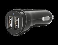 Auto punjač TRUST Fast Dual, 21713, 2 USB priključka, crni