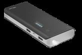 Mobilni USB punjač TRUST Primo, 10000 mAh, svijetiljka, crni
