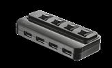 USB HUB TRUST, 4-portni USB 2.0, sa prekidačima