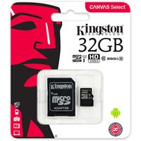 Memorijska kartica KINGSTON Canvas Select Micro SDCS/32GB, SDHC 32GB, Class 10 UHS-I + adapter