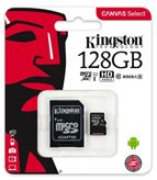 Memorijska kartica KINGSTON Canvas Select micro SDCS/128GB, SDXC 128GB, Class 10 UHS-I + adapter