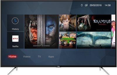 "LED TV 55"" TCL U55P6006, DVB-T2/C/S2, Smart TV, Ultra HD (4K), WiFi, A"
