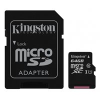 Memorijska kartica KINGSTON Canwas Select SDCS/64GB, SDXC 64GB, Class 10 UHS-I + adapter