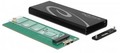 Eksterno kućište DELOCK, M.2 SSD - USB 3.1 Micro-B (Ž)
