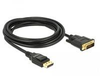 Kabel DELOCK, DisplayPort 1.2 (M) na DVI 24+1 (M), 3m