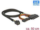 Kabel DELOCK, SFF-8643 (M) na U.2 SFF-8639 (Ž) + SATA, 50cm