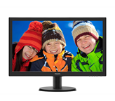 "Monitor 23.6"" W-LED PHILIPS 243V5LHAB5, FHD, 1ms, 250cd/m2, 1000:1, D-SUB, DVI, HDMI, crni"