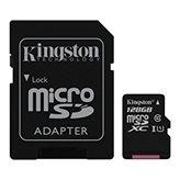 Memorijska kartica KINGSTON MC SDC10G2/128GB, microSDHC/microSDXC 128GB, Class 10 UHS-I + adapter