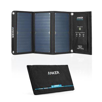 Mobilni USB punjač ANKER PowerPort Solar 2 Ports, 2xUSB, solarni, crni