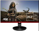 """Monitor 24.5"""" LED AOC G2590PX, FHD, 144Hz, 1ms, 400cd/m2, 20.000.000:1, D-Sub, DP, HDMI, zučnici, pivot, crni"""