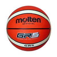 Košarkaška lopta MOLTEN BGR5-OI, gumena, vel.5, narančasto/siva