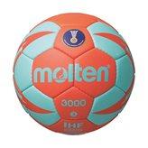 Rukometna lopta MOLTEN H3X3000, sintetička koža, vel.3, narančasto/tirkizna