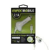 Auto punjač MAXMOBILE, za IPHONE 5/6/7/8, SC-020 2.1A MFI, bijeli