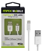 Kabel MAXMOBILE za iPhone 5/6/7/8 MFI Apple, 1m, srebrni
