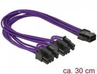 Kabel DELOCK, PCI Express 6-pin (Ž) na 2x 8-pin (M) naponski, interni