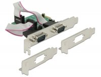 Kontroler PCI-E, DELOCK, 2x serijski port (RS-232, DB9), brzi 921K, low profile