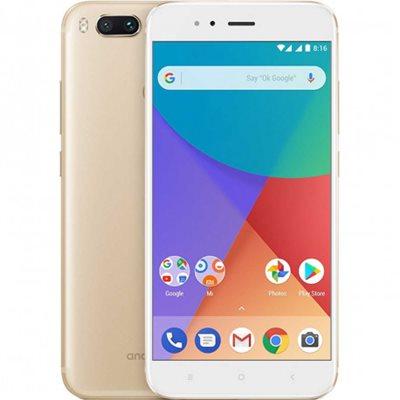 "Smartphone XIAOMI MI A1, 5.5"" FHD IPS multitouch, OctaCore Snapdragon 625 2.0GHz, 4GB RAM, 64GB Flash, GPS, BT, kamera, Android 7.1, zlatni"