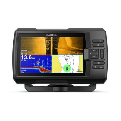 Fishfinder GARMIN Striker Plus 7sv (s krmenom sondom CHIRP 150-240kHz/DownVü/SideVü GT52HW-TM, 12-pin),GPS
