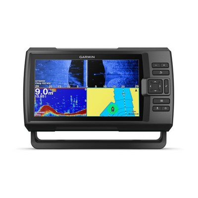 Fishfinder GARMIN Striker Plus 9sv (s krmenom sondom CHIRP 150-240kHz/DownVü/SideVü GT52HW-TM, 12-pin),GPS