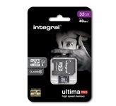 Memorijska kartica INTEGRAL UltimaPro, Micro SDHC, 32 GB Class 10 + adapter