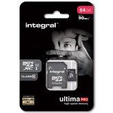 Memorijska kartica INTEGRAL UltimaProX, Micro SDXC, 64 GB Class 10 + adapter