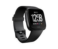 Sportski sat FITBIT Versa, NFC, senzor otkucaja, connected GPS, remen L i S uključeni, crni