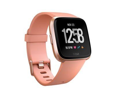 Sportski sat FITBIT Versa, NFC, senzor otkucaja, connected GPS, remen L i S uključeni, rozi