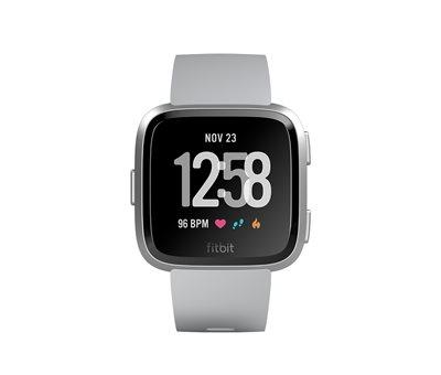 Sportski sat FITBIT Versa, NFC, senzor otkucaja, connected GPS, remen L i S uključeni, sivi
