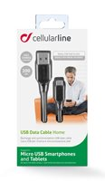 Kabel CELLULARLINE, USB na mUSB, 2m, crni