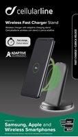 Kućni punjač CELLULARLINE Adaptive za smartphone, bežični, sivi