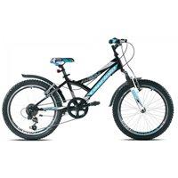 Dječji bicikl CAPRIOLO MTB Diavolo 200FS, vel.11˝, kotači 20˝, crno/plavi