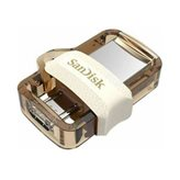 Memorija USB 3.0 FLASH DRIVE, 32 GB, SANDISK Ultra Dual Drive m3.0, SDDD3-032G-G46GW, USB 3.0 i micro USB OTG, zlatni