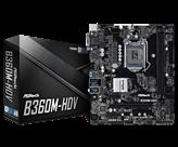 Matična ploča ASROCK B360M-HDV, Intel B360, DDR4, zvuk, G-LAN, SATA, M.2, PCI-E 3.0, HDMI, DVI-D, D-Sub, USB 3.1, ATX, s. 1151