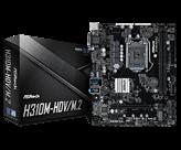 Matična ploča ASROCK H310M-HDV M.2, Intel H310M, DDR4, zvuk, G-LAN, SATA, M.2, PCI-E 3.0, CrossFireX, HDMI, DVI-D, D-Sub, USB 3.1, ATX, s. 1151