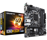 Matična ploča GIGABYTE GA-B360M-DS3H, Intel B360, DDR4, G-LAN, M.2, PCI-E 3.0, D-Sub, DVI-D, DP, USB 3.1, mATX, s. 1151
