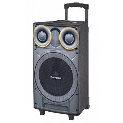Karaoke MANTA GHUL, SPK5003, pojačalo, daljinski, mikrofon, baterija, FM, BT, utor za gitaru