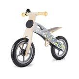 """Dječji bicikl LIONELO, Casper 12"""", drveni, bez pedala, kaciga, 6 kreda, sivi"""