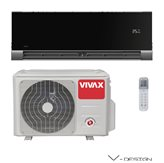 Klima uređaj VIVAX ACP-12CH35AEVI BLACK - inv., Hlađenje 3,52 kW, Grijanje 3,81 kW, Ekološki plin R410A, Energetska klasa A++/A+