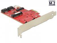 Kontroler PCI-E, DELOCK, 1 x unutarnji M.2 NGFF, 1 x unutarnji mSATA, 1 x unutarnji MiniPCIe