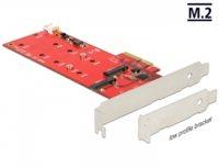 Kontroler PCI-E, DELOCK, 2 x unutarnji M.2, niskoprofilni oblik