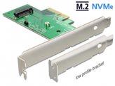 Kontroler PCI-E, DELOCK, unutarnji NVMe M.2 Key M 80 mm, niskoprofilni
