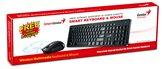 Tipkovnica + miš GENIUS SlimStar 8006, bežična, crna, USB