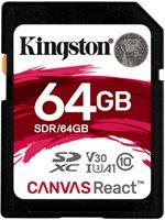 Memorijska kartica KINGSTON MC Canvas React SDR/64GB, SDXC 64GB, Class 10 UHS-I