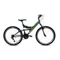Dječji bicikl CAPRIOLO CTX260, vel. rame 16˝, kotači 26˝, crno/plavi