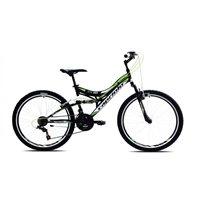 Dječji bicikl CAPRIOLO CTX260, vel. rame 16˝, kotači 26˝, crno/zeleni