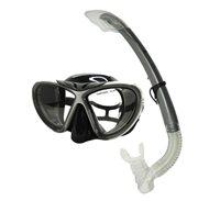 Komplet maska i dihalica EXTREME SUB 270S, silikon, kaljeno staklo, siva